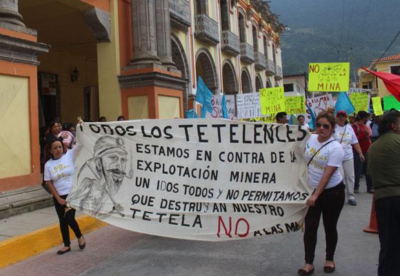 El gobierno de Puebla intenta operar a favor de la mina de Slim en Tetela