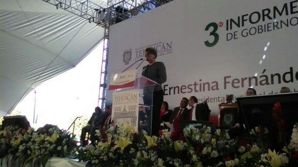 En Tehuacán se hizo obra por 200 mdp pese a la falta de apoyo del gobierno de RMV: Ernestina Fernández