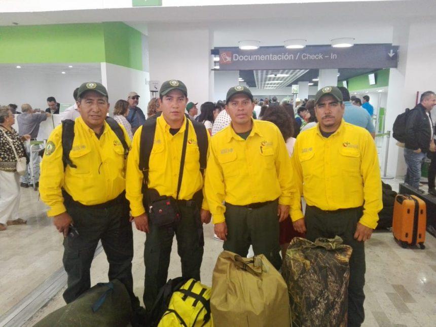 Tlaxcala se une al apoyo para combatir incendios forestales en Canadá con nueve elementos