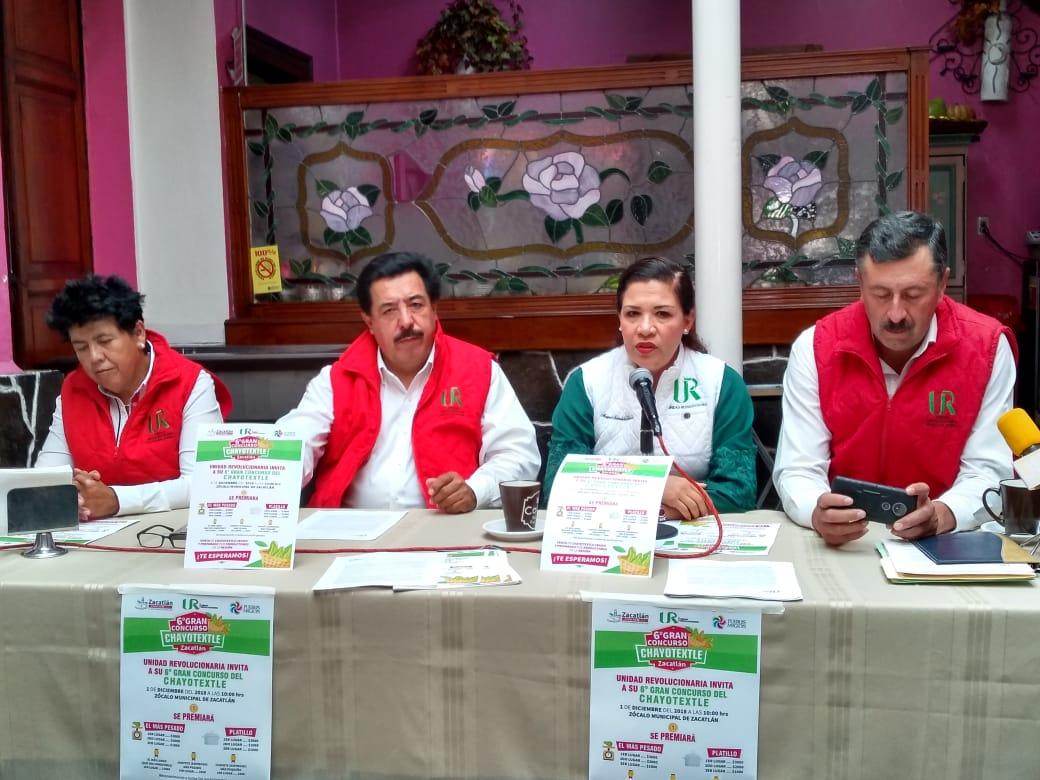 En Zacatlán se llevará a cabo el sexto concurso Chayotextle 2018