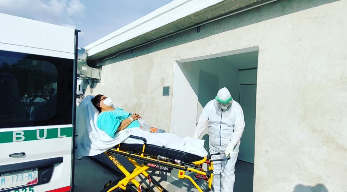 Ingresan los primeros pacientes con Covid-19 al Módulo Temporal de la Clínica 6 del IMSS en Puebla