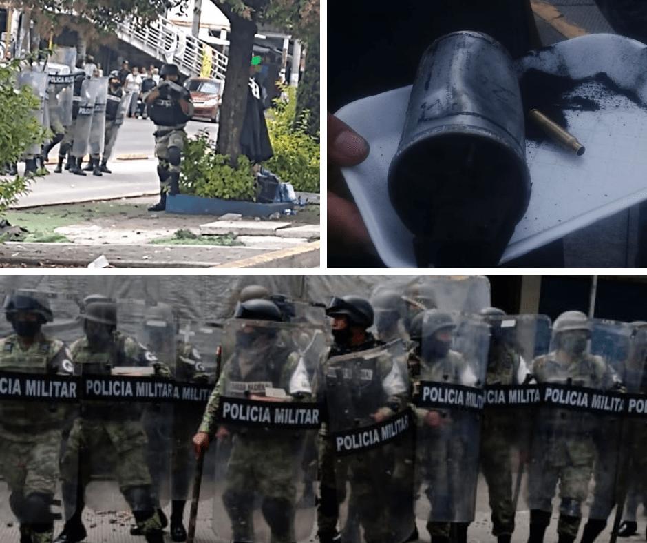 Tras enfrentamiento entre policías y comerciantes de La Cuchilla, la 28 de Octubre acusa exceso de fuerza de la GN y Policía