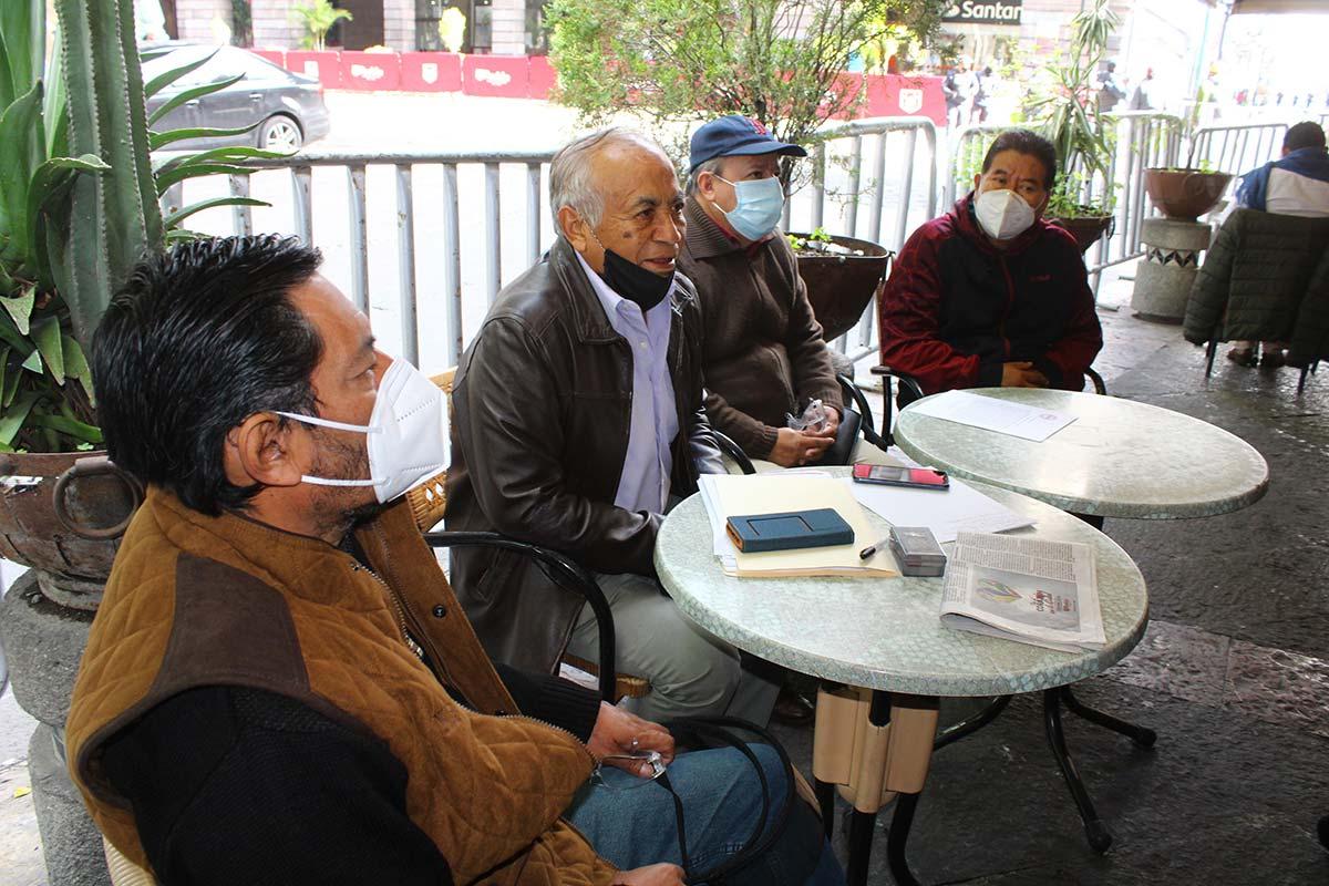 Integrantes del Suntuap durante una rueda de prensa