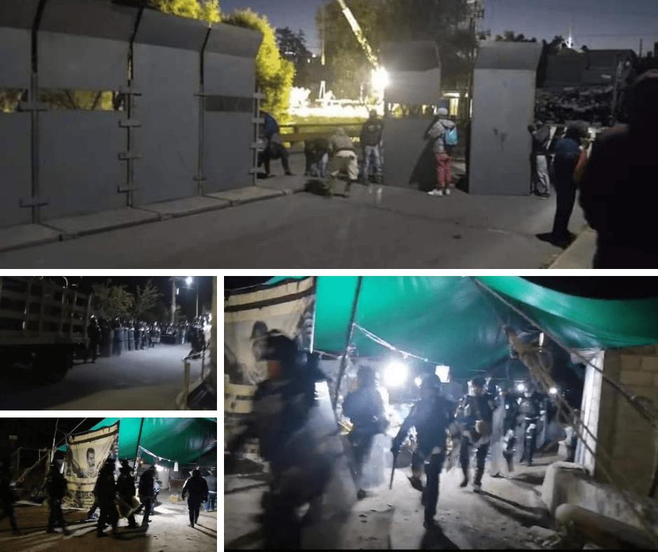 Guardia Nacional desaloja a campesinos de Apatlaco en plantón contra el Proyecto Integral Morelos